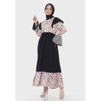 Hijab Ellysha KIMORRA LEAF TILE EMBROIDERY EXCLUSIVE DRESS