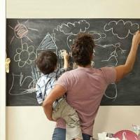 Blackboard Sticker Papan Tulis Kapur Tempel Portable Anak Kreatif 2M