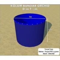 Kolam Terpal Bundar ORCHID Diameter 1 M Tinggi 1.2 M