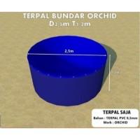 Kolam Terpal Bundar ORCHID Diameter 2.5 M Tinggi 1.2 M