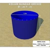 Kolam Terpal Bundar ORCHID Diameter 1.5 M Tinggi 1.2 M