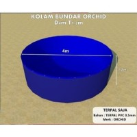Kolam Terpal Bundar ORCHID Diameter 4 M Tinggi 1.2 M