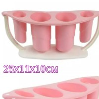 Tempat sendok garpu alat makan cantik soft pink