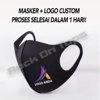 Masker Bahan Scuba + Logo Custom (1 pak isi 12 pcs)