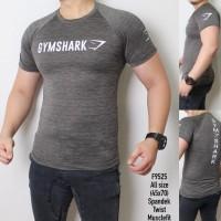 K-TWIST DATAR HIU Kaos Gym pria Baju fitnes Gymshark Compression sport