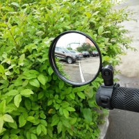 Kaca Spion Sepeda Bulat 360 Adjustable Handlebar 8CM - Hitam