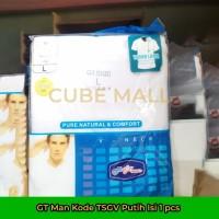 GT Man Kaos Dalam Pria V-Neck (Kode TSGV W Putih) Isi 1 Pcs