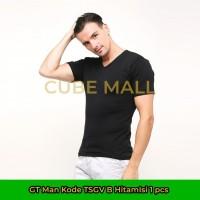 GT Man Kaos Dalam Pria V-Neck (Kode TSGV B Hitam) Isi 1 Pcs