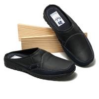 Sepatu Sandal Pria Bustong kulit Asli Pointed Toe BP912