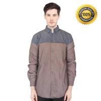 Baju Muslim Pria / Baju Koko Lengan Panjang Kasual Kemko YAKA 89