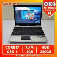HP EliteBook 2540p Core i7 Laptop Bekas Murah Gaming Design Bergaransi