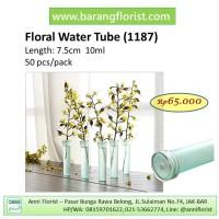 Floral Tube (1187), 50 pcs/pack, cup bunga, aksesoris bunga