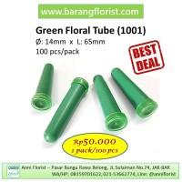 Green Floral Tube (1001) 100 pcs/pack, cup bunga, aksesoris bunga