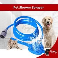 Pet Shower Bathing Tool Alat Spray Mandi Anjing Kucing Hewan Sikat