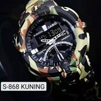 Jam tangan pria keren Casio G-Shock original anti air digital Army