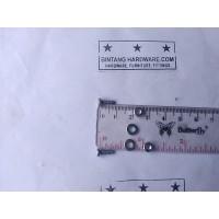 Baut JP 3X8 mm Set Mur Putih dan Ring Plat Per Set Murah M3x8mm Plus