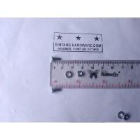 Baut JP 3X6 mm Set Mur Putih dan Ring Plat Per Set Murah M3x6mm Plus