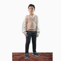 Rompi Vest Rajut Anak sekolah - Jfashion Clay