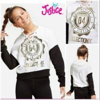 sweater anak justice putih