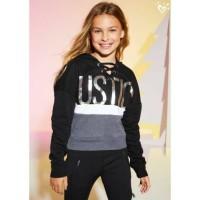 sweater anak perempuan justice original hitam kombinasi