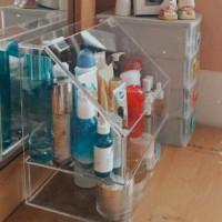 acrylic box makeup/skincare organizer with-drawer/rak kosmetik akrilik