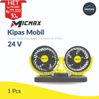 Kipas Angin Mobil Double-Headed Fan Aksesoris Mobil Interior 24 Volt
