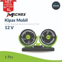 Kipas Angin Mobil Double-Headed Fan Aksesoris Mobil Interior 12 Volt