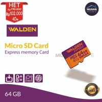 Walden Express Memory Card Micro SD 64GB/ Full HD Video/ Fast Transfer