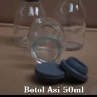 Botol Kaca Asi 50ml Tutup sillicon