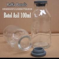 Botol Kaca Asi 100ml Tutup sillicon