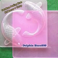 Cetakan Puding Ikan Koi Besar + Tutup Pink/Cetakan Jelly Agar Ikan Koi