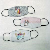 Masker kain filter non medis lucu anak dan dewasa - Unicorn 2