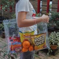 Tas Plastik / Tote Bag / Tas PVC / Transparant Bag / Kantong Belanja