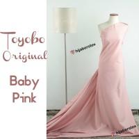 HijabersTex 1/2 Meter Kain TOYOBO ORIGINAL Baby Pink