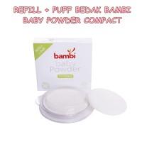 REFILL BEDAK BAMBI BABY POWDER COMPACT 40 GRAM