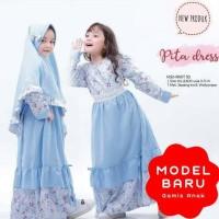 Dijual Baju Muslim Gamis Anak Perempuan Syari Usia 5-8 Tahun Pita Kids