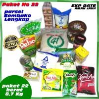 Paket No 22 Parcel Sembako Mentik Parsel Lengkap Makanan EXP DATE AMAN