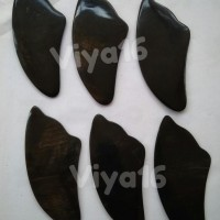 TERLARIS Alat Pijat Kerik Guasha dari Tanduk Kerbau Bentuk Sirip Ikan