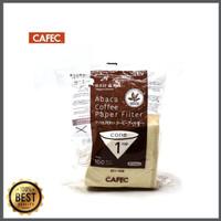 Dijual CAFEC Abaca Cone Coffee Brown Paper Filter AC1-100B Diskon