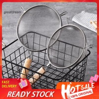 ❋CF❋Wooden Handle Frying Food Oil Stainless Steel Strainer