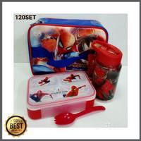 Paket Kotak Makan / Lunch Box Set SPIDERMAN (SP-120SET) Berkualitas