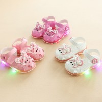 baby shoes ??Summer Girls LED light sandal flowers glow Princess
