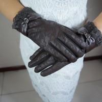 Sarung Tangan Touch Screen Bahan Kulit Tebal untuk Wanita