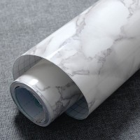 Wonderland Roll Stiker Wallpaper PVC Efek Marmer Granit Self