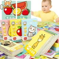 Bayi Mainan Kartu Kertas Chinese and Inggris untuk Edukasi Kognitif
