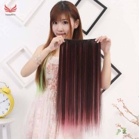 Wig Women Hair Extensions Colorful Straight Long High Tempreture