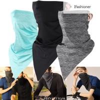 Riding Masker Wajah Anti Debu Bahan Fiber Breathable untuk Outdoor /