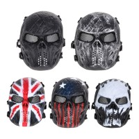 / Outdoor Masker Full Face Motif Tengkorak untuk Airsoft / Paintball