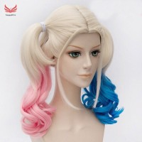 Shipping Hair Extensions Batman Suicide Squad Harley Quinn Cosplay