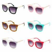 Pilihan Kacamata Hitam Fashion Bingkai Metal untuk Anak 6-12 Tahun,
